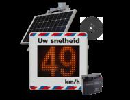 Snelheidsdisplay SOLAR 50W - LED + paneel reflecterend in huisstijl