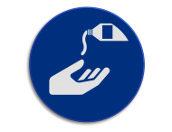 Veiligheidspictogram - Handen reinigen verplicht - M032
