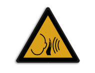 Veiligheidspictogram - Harde geluiden - W038