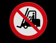 Veiligheidspictogram - Verboden voor industriële voertuigen - P006