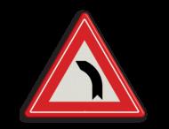 Verkeersbord RVV J03 - Vooraanduiding bocht naar links