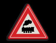 Verkeersbord RVV J11 - Vooraanduiding overweg zonder slagbomen