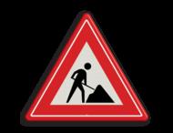 Verkeersteken RVV J16 - Werk in uitvoering
