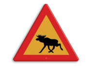 Verkeersbord ZWEDEN eland