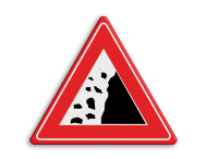 Informatiebord Vallend gesteente