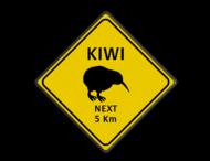 Verkeersbord Australie - KIWI