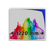 Reflecterende folie kl.1 wit  1220mm breed + full-colour opdruk