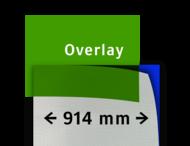 Transparant overlay groen 914mm breed