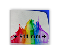Reflecterende folie kl.3 wit  914mm breed + full-colour opdruk
