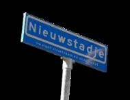 Straatnaambord ARK   600x200 mm + ot NEN 1772
