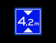 Verkeersbord RVV L01 - Maximale doorrijhoogte