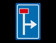 Verkeersbord RVV L09-1r - Doodlopende weg - voorwaarschuwing