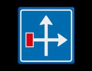 Verkeersbord RVV L09-4r - Doodlopende weg - voorwaarschuwing