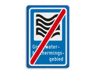 Verkeersbord RVV L305e - Grondwaterbeschermingsgebied - einde