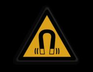Veiligheidspictogram - Pas Op! Magnetisch veld - W006