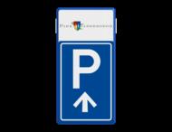 Bewegwijzering parkeerplaats + logo   BW201 + pijlfiguratie