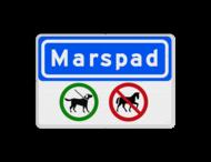 Informatiebord Straatnaam + verbodstekens