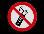 Veiligheidspictogram - Actieve telefoons verboden - P013