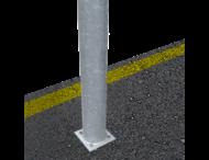 Plaatsing op vlakke ondergrond (asfalt of beton) - op eigen terrein