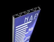 NAP Schaal verzwaard-profiel blauw/wit