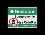 Nextdoor Buurtpreventie bord 01