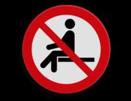 Veiligheidspictogram - Verboden te zitten - P018