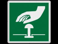 Veiligheidspictogram - Noodknop bediening - E020