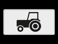 Verkeersbord RVV OB05 - Onderbord - Geldt alleen voor tractoren