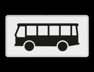 Verkeersbord RVV OB12 - Onderbord - Geldt alleen voor bussen