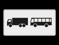 Verkeersbord RVV OB13 - Onderbord - Geldt alleen voor vrachtauto's en bussen
