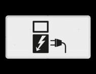 Verkeersbord RVV OB19 - Onderbord - Geldt alleen voor elektrische voertuigen