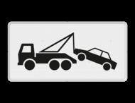 Verkeersbord RVV OB303 - Onderbord - Wegsleepregeling van kracht