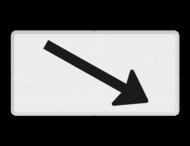 Verkeersbord RVV OB504r - Onderbord - Verwijzing rijbaan of parkeervak