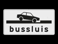 Verkeersbord RVV OB617 - Onderbord - Bussluis