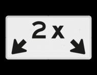 Verkeersbord RVV OBE04 - Onderbord - 2x + OB504