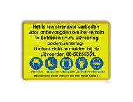Tekstbord WIU geel/zwart regelement