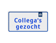 Logobord 2:1 blauw/wit RECHTHOEK