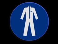 Veiligheidspictogram - Overal dragen verplicht - M010