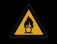 Veiligheidspictogram - Pas Op! Oxiderende stoffen - W028