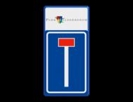 Routebord Doodlopende weg L08 + logo/beeldmerk