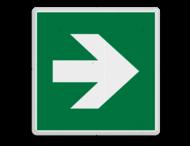 Veiligheidspictogram - Vluchtroute - te volgen richting - Pijl rechts