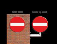 Plaatsing tegen paal of vlakke wand (max. +2,5mtr)