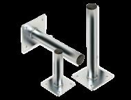 Rechte muur- / plafondbeugel Ø48 mm gegalvaniseerd staal