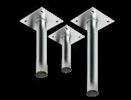 Rechte muur- / plafondbeugel Ø48mm gegalvaniseerd staal