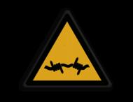 Veiligheidspictogram - Prikkeldraad - W033