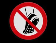 Veiligheidspictogram - Verboden voor profielzolen - P035