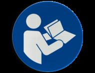 Pictogram M002 - Instructies lezen verplicht