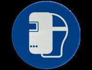 Pictogram M019 - Lasmasker verplicht