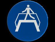 Pictogram M023 - Verplichte oversteekplaats