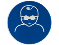 Pictogram M025 - Opaak oogbescherming verplicht voor kinderen